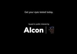 【海外事例】アルコン、世界視力デーに向けシネアド実施